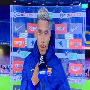 """[MovistarFutbol] Ronald Araujo: """"A shame this tie. We played a great game. They stayed back, they wasted time, they threw themselves. A pity that the goal was so late"""""""