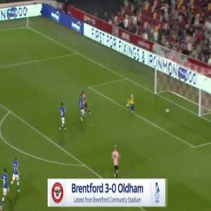 Brentford 3-0 Oldham - Yoane Wissa 38'