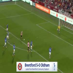 Brentford 5-0 Oldham - Marcus Forss 44'