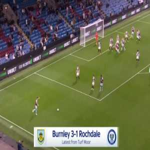 Burnley [3]-1 Rochdale - Jay Rodriguez 62'