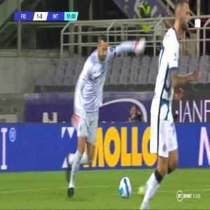 Fiorentina 1 v (1) Inter: M. Darmian 52'