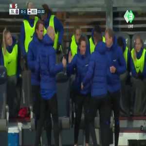 Iceland W 0 - [1] Netherlands W - Daniëlle van de Donk 23'