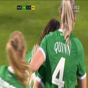 Ireland W [1] - 0 Australia W - Lucy Quinn 3'