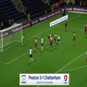 Preston [3]-1 Cheltenham - Sean Maguire 82'