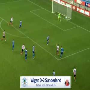 Wigan 0-2 Sunderland - Luke O'Nien 54'