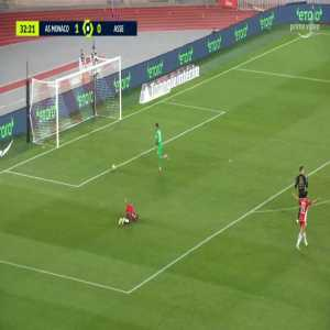 Etienne Green (Saint-Étienne) straight red card against Monaco 32'