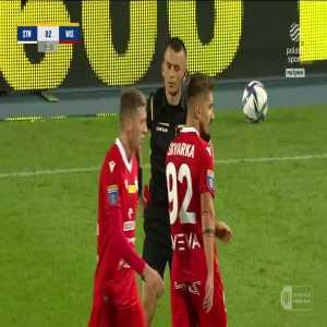 Kamil Kościelny (Stal Mielec) red card vs. Wisła Kraków (26', Polish Cup)