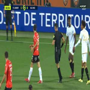 Moritz Jenz (Lorient) second yellow card against Nice 69'