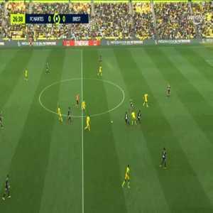 Nantes 1-0 Brest - Ludovic Blas 27'