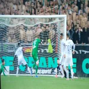Pembélé last minute goal line clearance and Puel's reaction