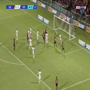 Salernitana [1]-2 Verona - Cedric Gondo 45'+2'