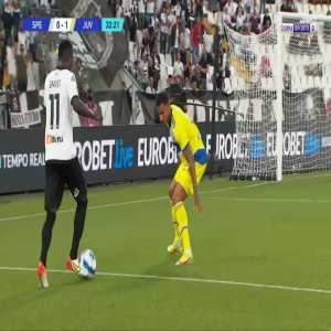 Spezia [1]-1 Juventus - Emmanuel Gyasi 33'