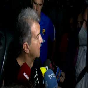 """[El Chiringuito] """"Is Koeman in danger if he loses tomorrow?"""" Laporta: """"In Barca, it's not only the results but also the game too. Ronald knows it and I believe he will act like a professional."""" """"Is your patience limited?"""" Laporta: """"Yes of course."""""""