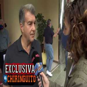 "[El Chiringuito Tv] | Joan Laporta: ""Ronald Koeman's future? His future doesn't depend on today's result in Cadiz."""