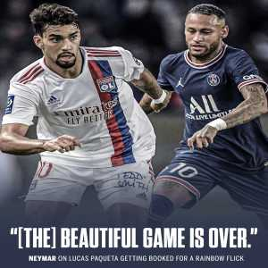 """[ESPN] Neymar on Paqueta getting booked for a rainbow flick: """"The Beautiful game is over"""""""