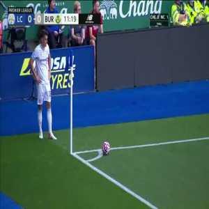 Leicester 0-1 Burnley | Jamie Vardy OG 12'