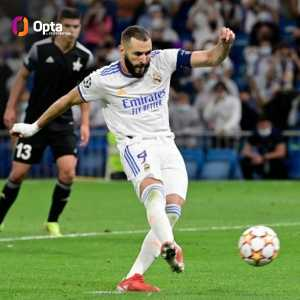 [OptaJose] Karim Benzema has become the first player in the history of Champions League to score in 17 different seasons (16 for Ryan Giggs, Cristiano Ronaldo and Lionel Messi), and he has also achieved it consecutively.