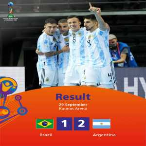[FIFA] Defending champions Argentina advance to a second successive Futsal WC final with victory over continental rivals Brazil.