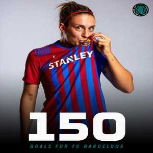 """[iccwomen] """"Alexia Putellas has scored her 150th (and 151st) goal for @FCBfemeni"""""""