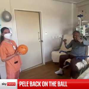 [Sky News] Brazilian football legend Pele has posted a video to his Instagram account showing he is recovering well from surgery to remove a tumour in his colon.