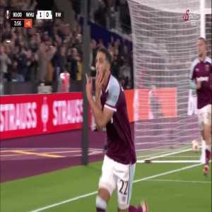 West Ham United (2)-0 SK Rapid Wien - Benrahama 90+5'