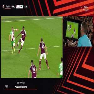 West Ham United Vs SK Rapid Wien - SK Rapid Wien Potential Penalty VAR'd 70'