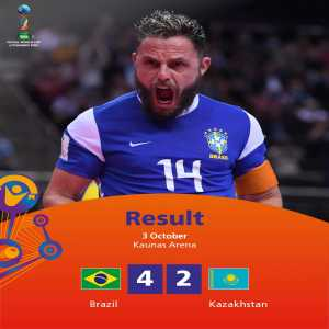 [FIFA] Brazil defeats Kazakhstan and wins the Bronze medal in the FIFA Futsal World Cup 2021