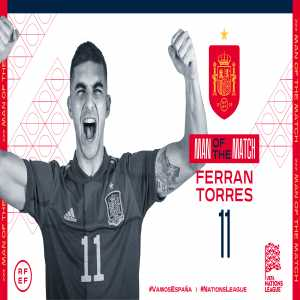 [Official] Ferran Torres named Man of the Match for Italy vs Spain in the 2021 UEFA Nations League semi-final
