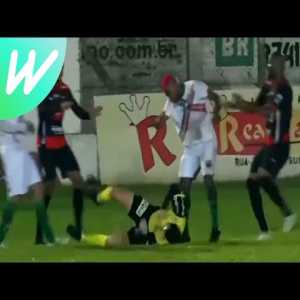 Brazilian footballer William Ribeiro charged with attempted murder after attacking referee