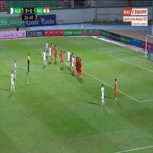 Algeria 1-0 Niger - Riyad Mahrez free-kick 27'