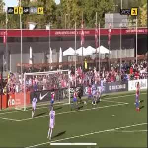 Atletico Madrid W 0 - [1] Barcelona W - Oshoala 35'