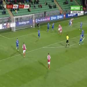 Moldova 0-1 Denmark - Andreas Skov Olsen 23'