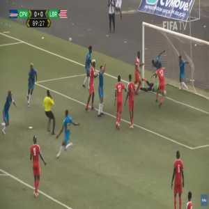 Cape Verde 1-0 Liberia - Ryan Mendes 90'