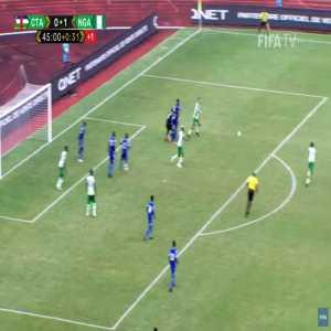 Central Africa 0-2 Nigeria - Victor Osimhen 45'+2'