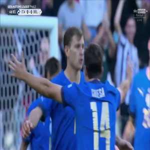 Italy [1] - 0 Belgium - Nicoli Barella 46'