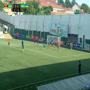 Uganda 1-0 Rwanda - Fahad Bayo 21'