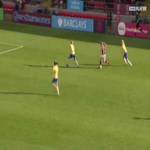 West Ham W [1] - 0 Birmingham W - Claudia Walker great goal 54'