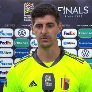 """[DW Sports] """"They don't care about the players, they just care about their pockets."""" Belgium's Thibaut Courtois pulled no punches when talking about UEFA and FIFA."""