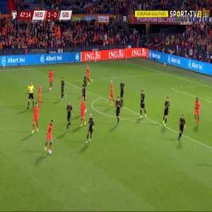 Netherlands 4-0 Gibraltar - Denzel Dumfries 48'