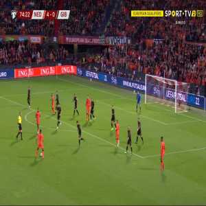 Netherlands 5-0 Gibraltar - Arnaut Danjuma 75'