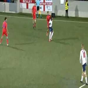 Rhian Brewster (England U21) second yellow card against Andorra U21 55'