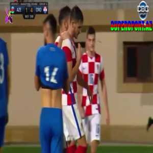 Azerbaijan U21 1 - [5] Croatia U21 Josip Šutalo 81'