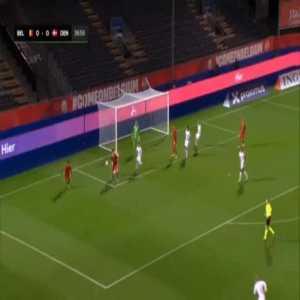 Belgium U21 1-0 Denmark U21 - Lois Openda 38'