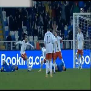 Kosovo [1]-1 Georgia - Vedat Muriqi penalty 45'