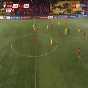 Lithuania 0-4 Switzerland - Mario Gavranovic 90'+4'
