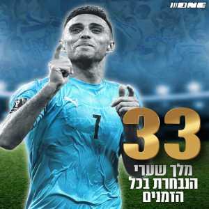 [ONE] Eran Zahavi surpasses Mordechai Spiegler as the Israeli NT all time top scorer