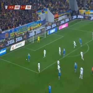 Ukraine 1-0 Bosnia & Herzegovina - Andriy Yarmolenko 15'