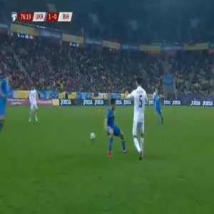 Ukraine 1-[1] Bosnia & Herzegovina - Anel Ahmedhodzic 77'