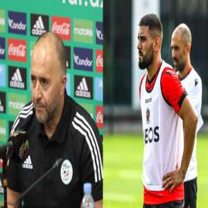 """[DZfoot English] Algeria coach Djamel Belmadi on Andy Delort taking a break from the national team: """"It's the biggest joke of the year. Only for one year? It's either stupidity or a lot of nerve. We're going to play in terrible conditions. When all is done, he'll come back like a princess? No way."""""""