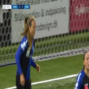 Great chance by HB Køge W against Barcelona W